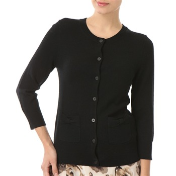 Juicy Couture Black Bow Detail Wool Cardigan