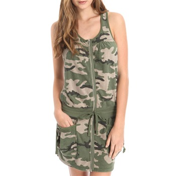 Juicy Couture Green Terry Cloth Army Tank Dress