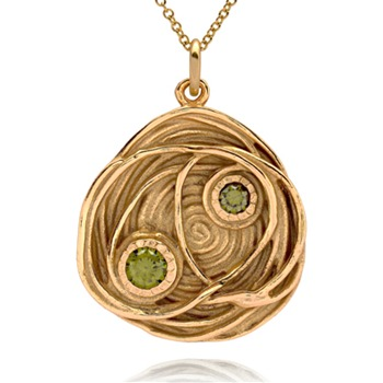 Bijou Bijou Gold Bird Nest Pendant Necklace