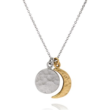 Bijou Bijou Silver/Gold Coin Charm Necklace