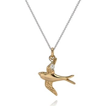Bijou Bijou Gold/Silver Swallow Pendant Necklace