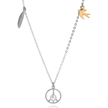 Bijou Bijou Gold/Silver Multi Charm Peace Necklace