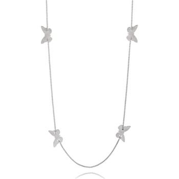 Bijou Bijou Silver Butterfly Charm Long Necklace