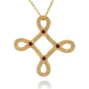 Bijou Bijou Gold Twisted Cross Pendant