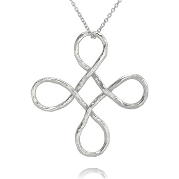Bijou Bijou Silver Twisted Cross Pendant