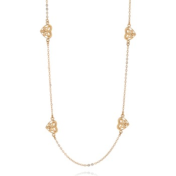 Bijou Bijou Gold Vintage Heart Charm Necklace