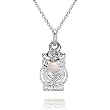 Bijou Bijou Silver Filigree Owl Pendant
