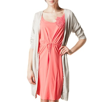 Kookai Coral/Grey 2 in 1 Cardigan Dress