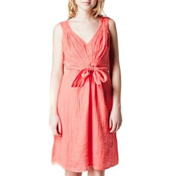 Kookai Pink Tie Belt Linen Dress