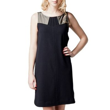 Kookai Navy Polka Dot Insert Shift Dress