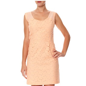 Kookai Peach Laser Cut Petal Dress