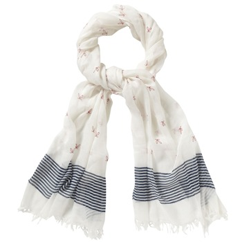 Kookai White Placement Stripe Scarf