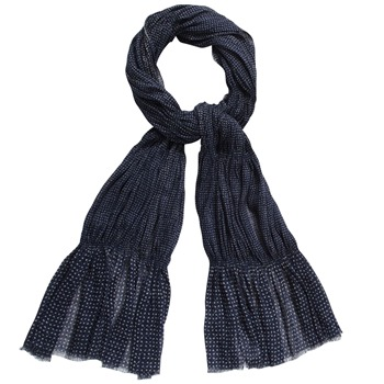 Kookai Navy Ditsy Spot Print Scarf