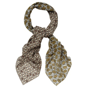 Kookai Brown Tribal Motif Scarf