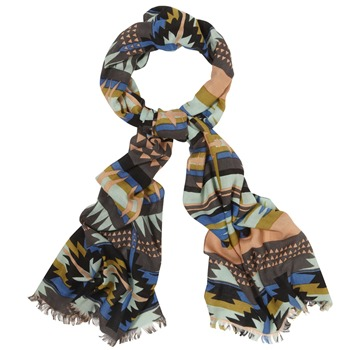 Kookai Brown Multi Ethnic Print Scarf