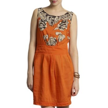 Kookai Orange Floral Shift Dress