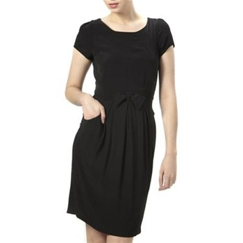 Kookai Black Bow Detail Shift Dress