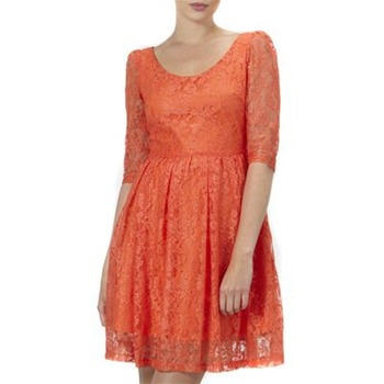 Kookai Orange Half Sleeve Lace Dress