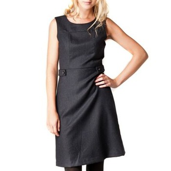 Kookai Navy Flannel Tailored Wool Dress