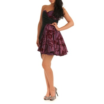 Jolaby Purple Flared Bustier Dress