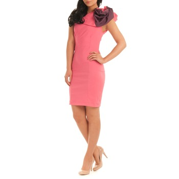Jolaby Pink One Shoulder Fitted Dress