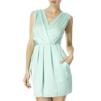 Closet Mint Green Polka Dot Dress