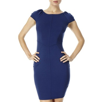 Closet Navy Stitched Front Jersey Dress