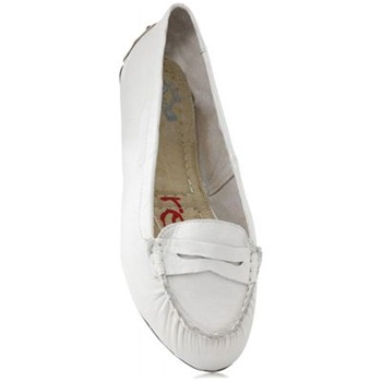 Redfoot White Diana Leather Loafers