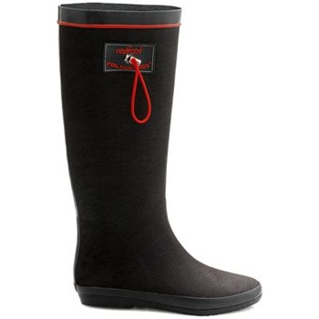 Redfoot Black Textile Folding Rainboots