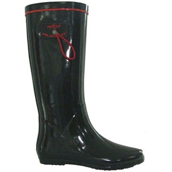 Redfoot Black Folding Rainboots