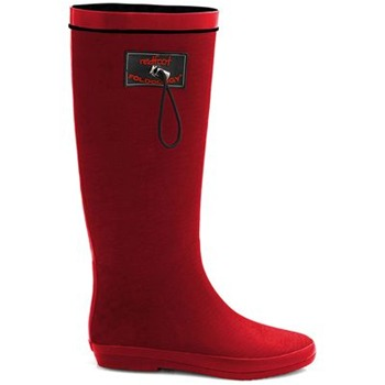 Redfoot Ruby Red Textile Folding Rainboots