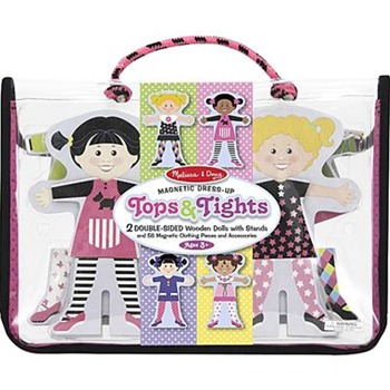 Melissa and Doug Tops and Tights Magnetic Wooden Dress-up Dolls