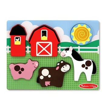 Melissa and Doug Six Piece Chunky Puzzle Scene - Barnyard Fun