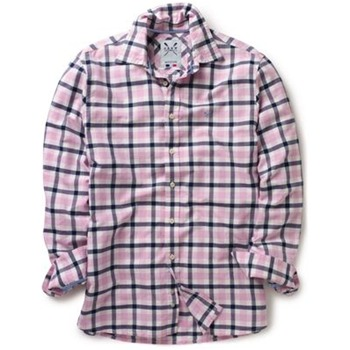 Crew Clothing Pink/Navy Pinpoint Oxford Check Shirt