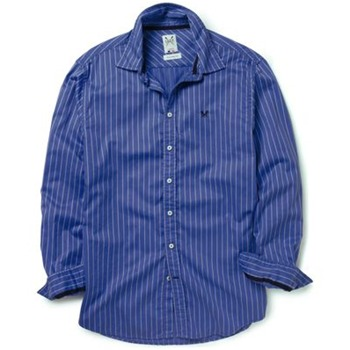 Crew Clothing Blue Stripe Vintage Stripe Shirt