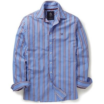 Crew Clothing Blue/Red College Stripe Shirt