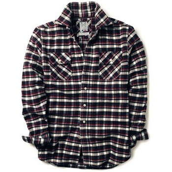Crew Clothing Navy/Red Ethan Flannel Check Shirt
