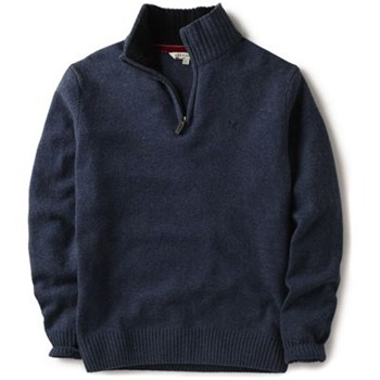Crew Clothing Navy Arundel Knitted Jumper