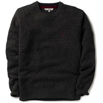 Crew Clothing Charcoal Richmond Knitted Jumper