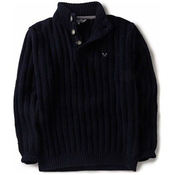 Crew Clothing Navy Highland Knitted Jumper