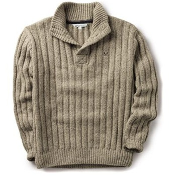 Crew Clothing Stone Highland Knitted Jumper