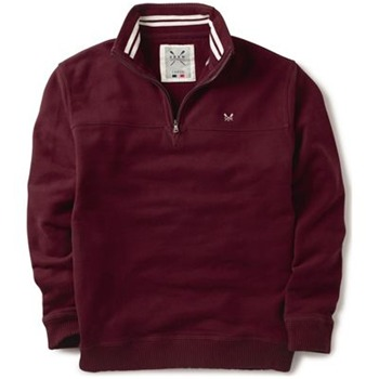 Crew Clothing Red Zip Classic Sweatshirt