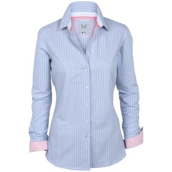 Crew Clothing Blue Abby Stripe Shirt