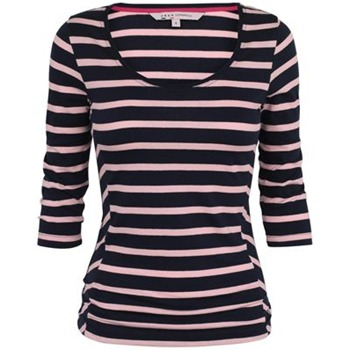 Crew Clothing Navy/Pink Gingerlily Stripe Top