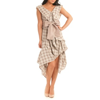 Jolaby Brown Check Float Dress