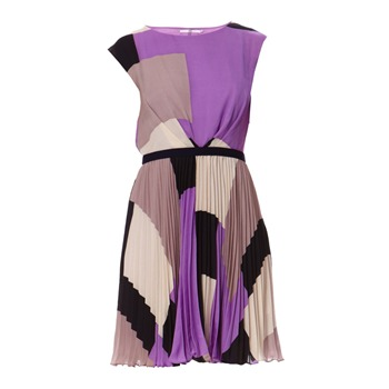Manoukian Robe imprime violette