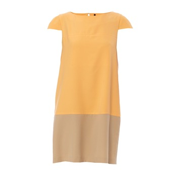 Benetton Robe orange et beige