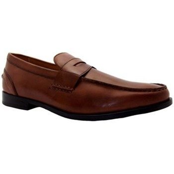 Rockport Brown Leather Park Drive Penny Loafers