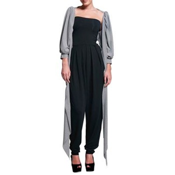 Butter By Nadia Black Pin Leg Jumpsuit
