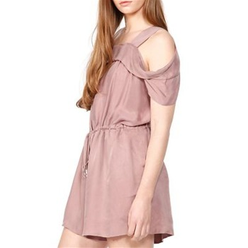 All Dressed UP Soft Pink Drawstring Playsuit
